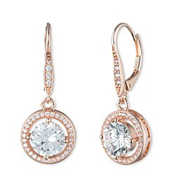 Anne Klein® Cubic Zirconia Eurowire Earrings
