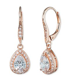 Anne Klein® Cubic Zirconia Pear Earrings