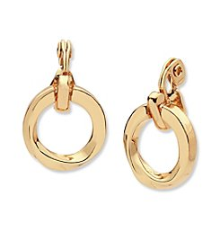 Anne Klein® Clip On Hoop Drop Earrings