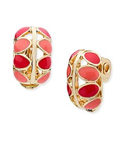 Anne Klein® Button Clip Earrings