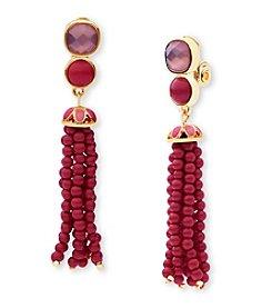 Anne Klein® Tassel Drop Earrings