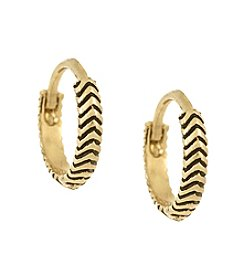 Laundry® Chevron Huggie Hoop Earrings
