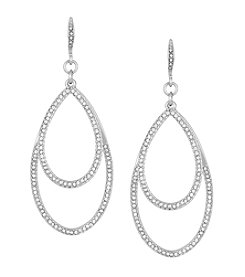Laundry® Pave Double Teardrop Earrings