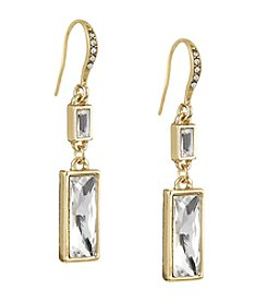 Laundry® Baguette Double Drop Earring