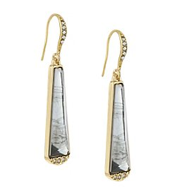 Laundry® Linear Stone Inlay Drop Earring