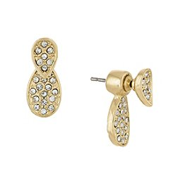 Laundry® Pave Teardrop Floater Earrings