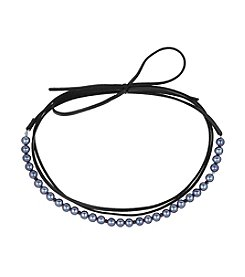 Laundry® Simulated Pearl Wrap Choker Necklace