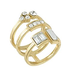 Laundry® Stacked Simulated Crystal Ring