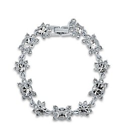 Givenchy® Clear Simulated Crystal Flex Bracelet