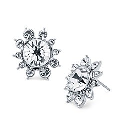 Givenchy® Clear Button Cluster Earrings