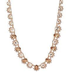 Givenchy® Rose Goldtone Simulated Crystal Collar Necklace