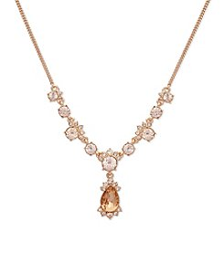 Givenchy® Silk Simulated Crystal Y Necklace