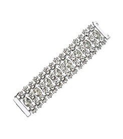 Givenchy® Dramatic Simulated Crystal Flex Bracelet