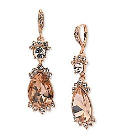 Givenchy® Silk Simulated Crystal Drop Earrings