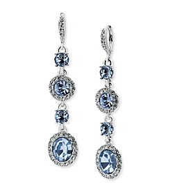Givenchy® Simualted Sapphire Linear Earrings