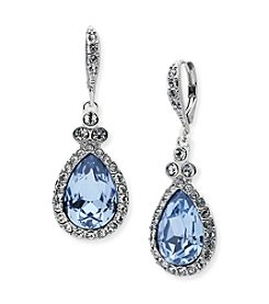 Givenchy® Sapphire Glass Pavé Drop Earrings
