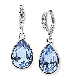 Givenchy® Simulated Sapphire Pear Drop Earrings