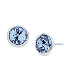 Givenchy® Simulated Sapphire Stone Stud Earrings