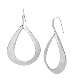 Robert Lee Morris Soho™ Sculptural Teardrop Hoop Earrings