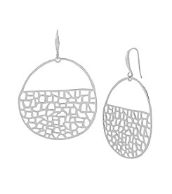 Robert Lee Morris Soho™ Geometric Cutout Hoop Earrings