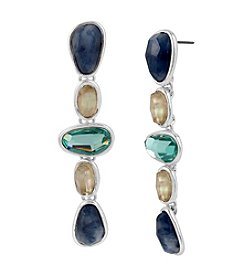 Robert Lee Morris Soho™ Mixed Semiprecious Stone Sculptural Linear Earrings