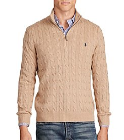 Polo Ralph Lauren® Men's Long Sleeve Cable 1/2 Zip Fleece