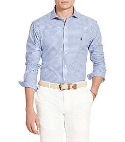 Polo Ralph Lauren® Men's Poplin Spread Long Sleeve Knit Shirt