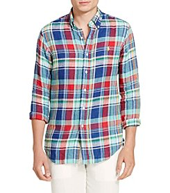 Polo Ralph Lauren® Men's Linen Button Down Long Sleeve Knit