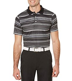 PGA TOUR® Men's Ventilated Print Heather Stripe Polo