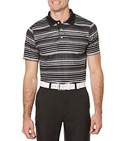 PGA TOUR® Men's Ventilated Print Heather Stripe Polo