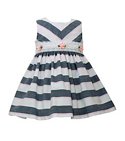 Bonnie Jean® Baby Girls' Mixed Chambray Striped Dress
