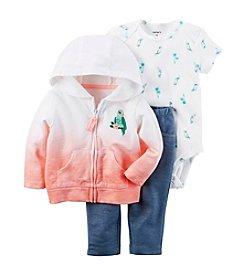 Carter's® Baby Girls' 3-Piece Bodysuit And Denim Leggings Set With Cardigan