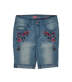 Lee® Girls' 7-16 Front Floral Bermuda Shorts