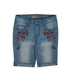 Lee® Girls' 7-16 Front Floral Bermuda Shorts