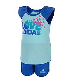 adidas® Baby Girls' 2-Piece Love Adidas Super Shorts Set