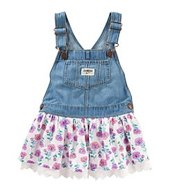 OshKosh B'Gosh® Baby Girls' Denim With Floral Skirt Jumper