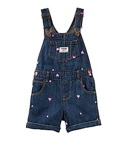 OshKosh B'Gosh® Baby Girls' Diamond Schiffli Shortalls