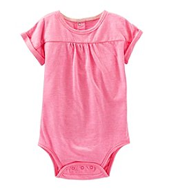 OshKosh B'Gosh® Baby Girls' 12-24 Month Short Sleeve Knit Bodysuit