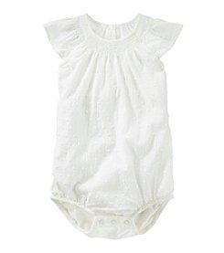 OshKosh B'Gosh® Baby Girls' Woven Flutter Sleeve Bodysuit