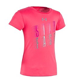 Under Armour® Girls' 2T-6X Gala Stay Fast Short Sleeve Tee