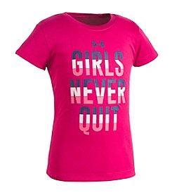 Under Armour® Girls' 2T-6X Girls Never Quit Short Sleeve Tee