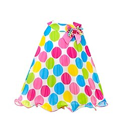 Gerson Girls' 2T-4T Sleeveless Polka Dot Dress