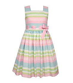 Bonnie Jean® Girls' 2T-6X Linen Striped Dress