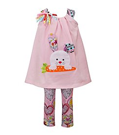 Bonnie Jean® Girls' 2T-6X 2-Piece Bunny Top And Capri Set