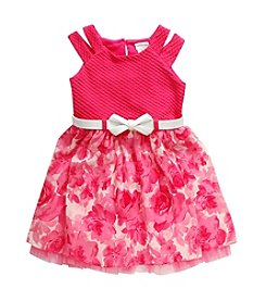Sweet Heart Rose® Girls' 2T-6X Knit Woven Fashion Dress