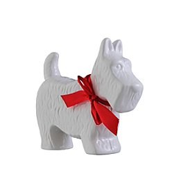 Prinz® Scotty Dog With Bow Ceramic Figurine