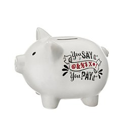 Prinz® You Say It You Pay It Ceramic Pig Bank