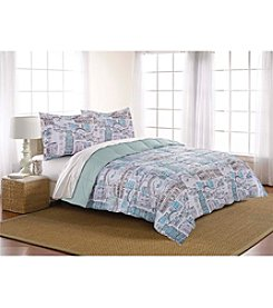 LivingQuarters Reversible Microfiber Down Alternative Italian Vacation Comforter