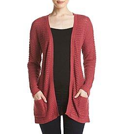 Pink Rose® Weave Back Cardigan
