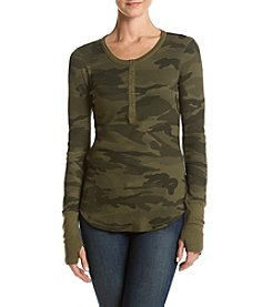 Splendid® Camo Thermal Henley